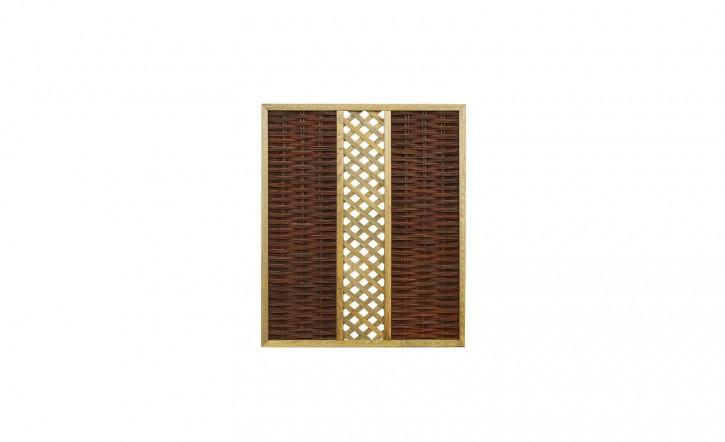 Weidenflechtzaun Feliwa Premio mit Gitter A-Qualität 150 x 180 cm