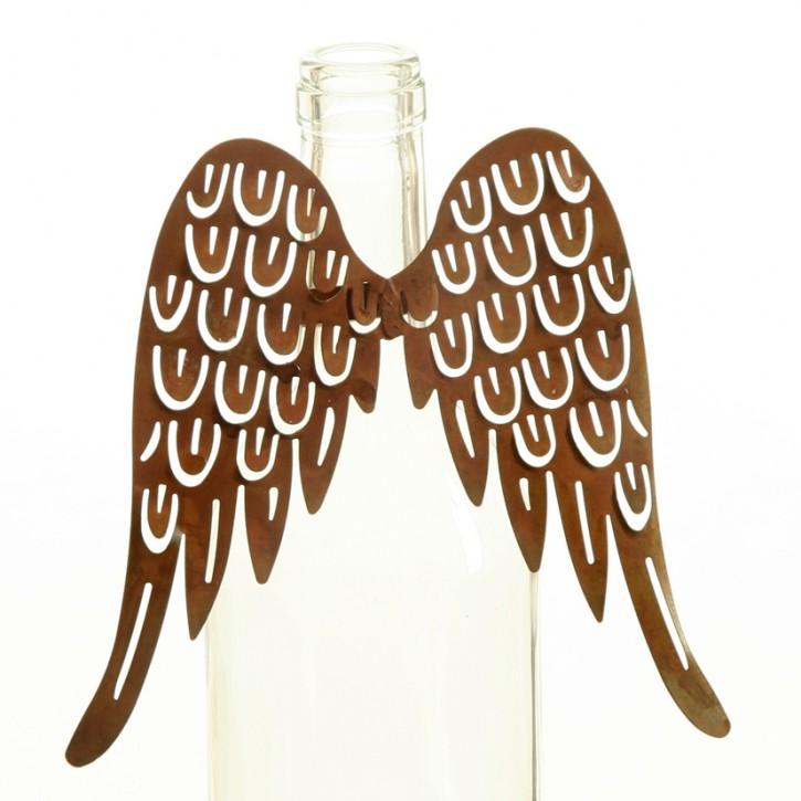 Engelsflügel für Flaschenhals Naturrost