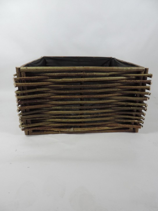 Hochbeet aus Haselnussruten B-Ware 90 x 90 x 50 cm