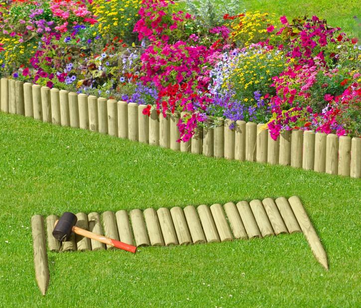 Rasenkante Holz 100 cm
