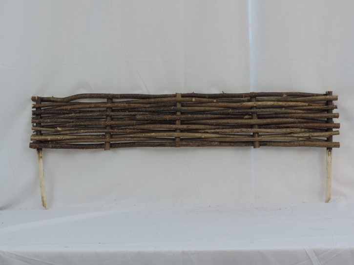Beeteinfassung Haselnuss Beetbegrenzung Beetzaun 120 x 20 cm