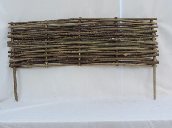 Beeteinfassung Haselnuss Beetbegrenzung Beetzaun 120 x 40 cm