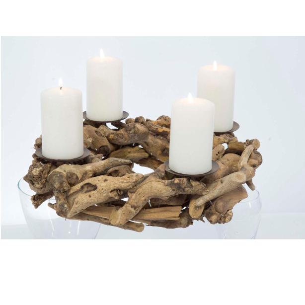 Adventskranz mit 4 Kerzenhalter Adventgesteck Kranz Tischkranz Weihnachtskranz