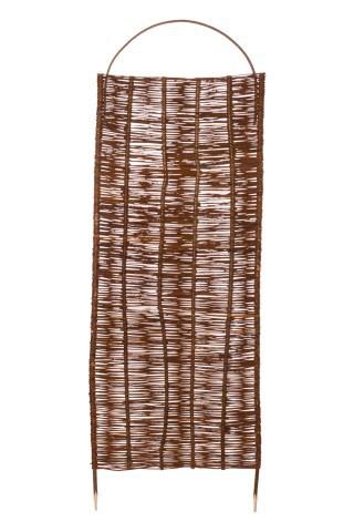 Weidenzaun Element Spanische Wand mit einem Weidenrundbogen A-Qualität  60 x 120 cm