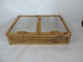 Holz Frühbeetkasten aus Kiefernholz 120 x 80 x 32 x 44 cm